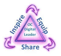 OC Digital Leader Logo - Inspire, Equip, Share