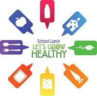 "School Lunch image - ""Let's Grow Healthy"""