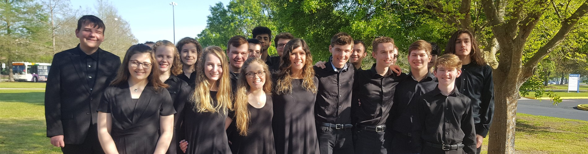group picture of Oldham County Jazz band