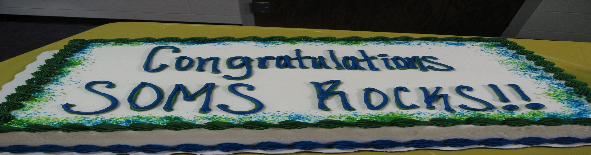picture of SOMS Rocks cake