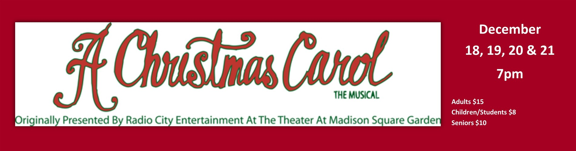 A Christmas Carol, the Musical logo